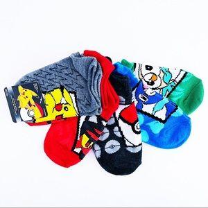 🆕 Pokémon Sun and Moon Pikachu Kids Socks